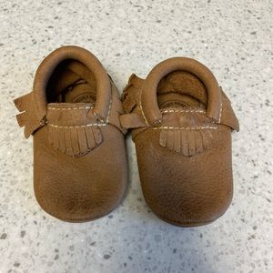 Freshly Picked baby moccasins tan size 3